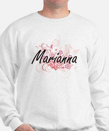 Marianna Artistic Name Design with Flow Sweatshirt