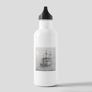 Grey, Gray Fog Pirate Ship Water Bottle
