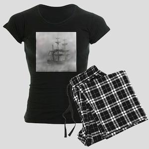 Grey, Gray Fog Pirate Ship pajamas