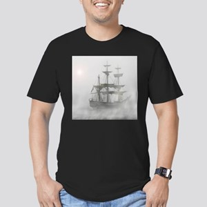 Grey, Gray Fog Pirate Ship T-Shirt