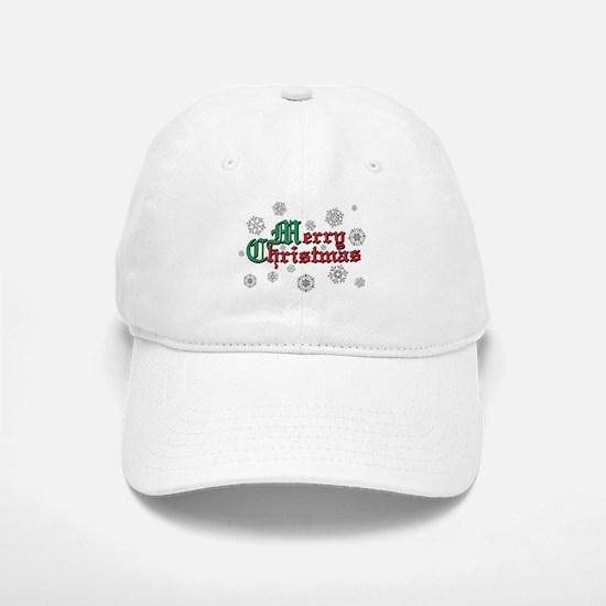 Merry Christmas Baseball Baseball Cap