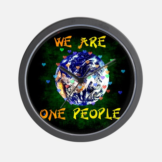 We Are One People Wall Clock
