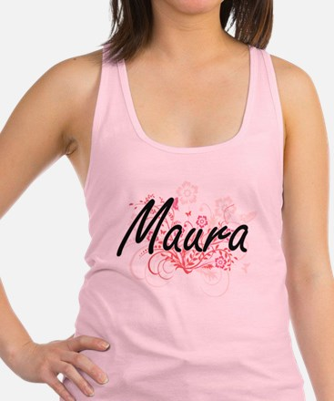 Maura Artistic Name Design with Racerback Tank Top
