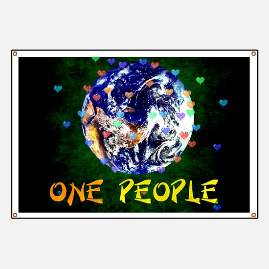 We Are One People Banner