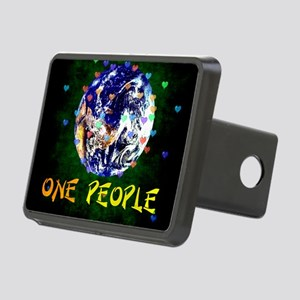 We Are One People Rectangular Hitch Cover
