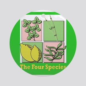 Succos The Four Species Ornament (Round)