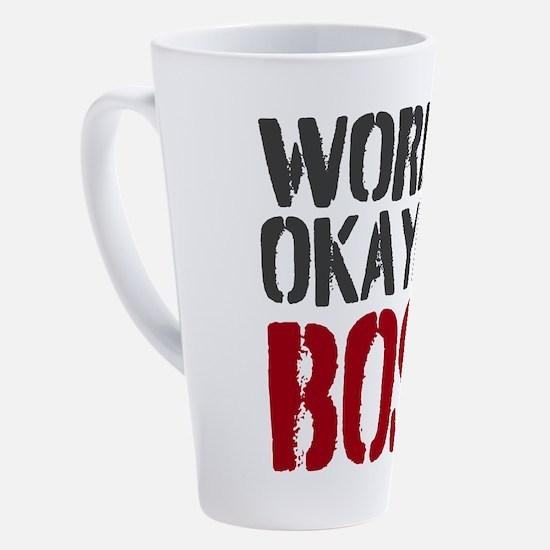 Unique Boss jokes 17 oz Latte Mug