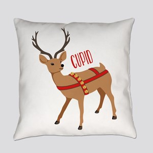 Reindeer Christmas Cupid Everyday Pillow