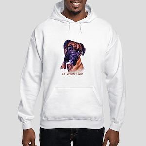 Boxer wasn't me Hooded Sweatshirt