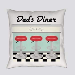 Dad's Diner Everyday Pillow