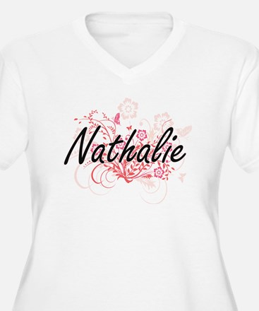 Nathalie Artistic Name Design wi Plus Size T-Shirt