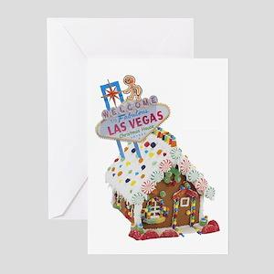 Las Vegas Gingerbread Christmas House Cards 10