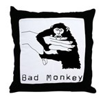 Bad Monkey Throw Pillow