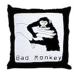 Bad Monkey Throw Pillow