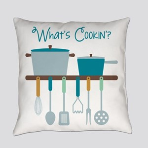 Kitchen Cooking Utensils Pots Everyday Pillow