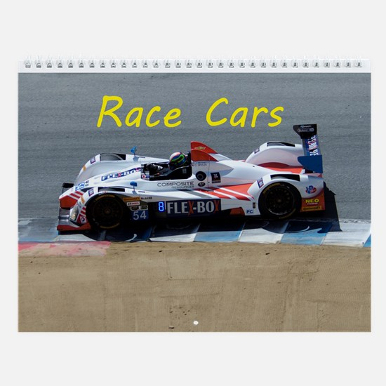 Race Cars Wall Calendar