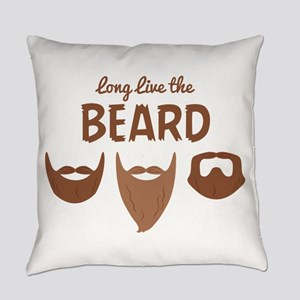 Long Live The Beard Everyday Pillow