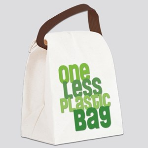 One Less Plastic Bag Canvas Lunch Bag