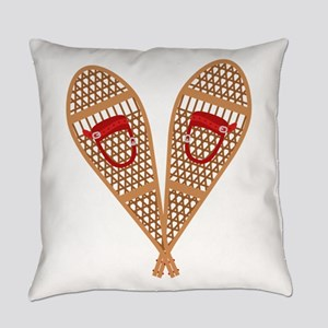Vintage Snowshoes Everyday Pillow