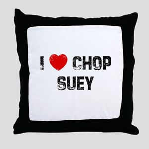I * Chop Suey Throw Pillow