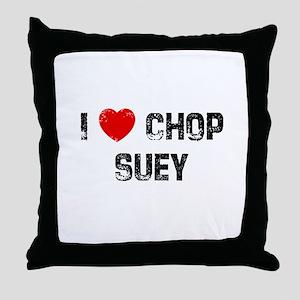 I * Chop Suey Throw Pillow