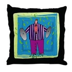 Cymbals Player Throw Pillow
