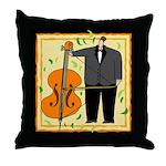 String Bass Music Throw Pillow