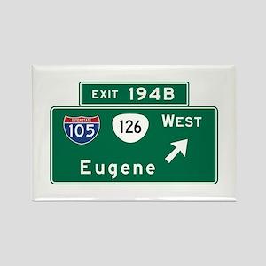 Eugene, OR Road Sign, USA Rectangle Magnet