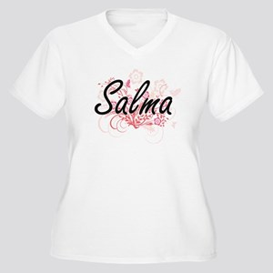 Salma Artistic Name Design with Plus Size T-Shirt