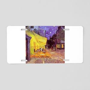 Van Gogh Cafe Terrace at Night Aluminum License Pl