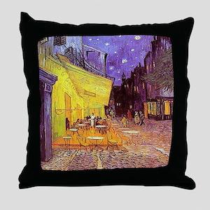 Van Gogh Cafe Terrace at Night Throw Pillow