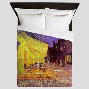 Van Gogh Cafe Terrace at Night Queen Duvet