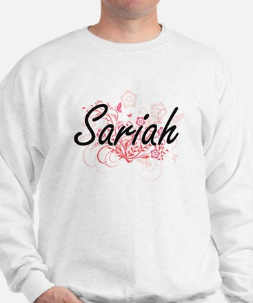 Sariah Artistic Name Design with Flower Sweatshirt