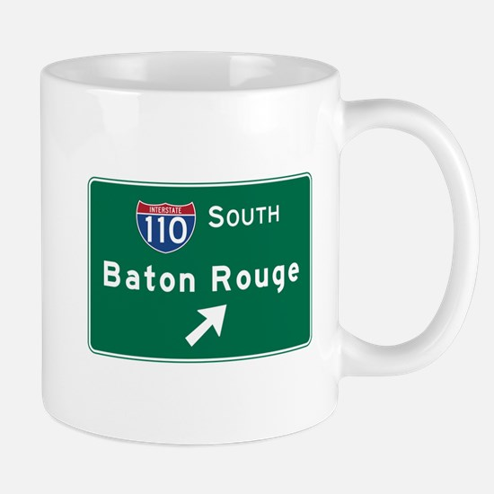 Baton Rouge, LA Road Sign, USA Mug