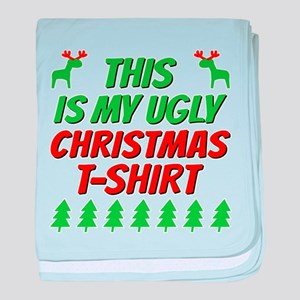 This is my ugly Christmas t-shirt baby blanket