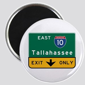 Tallahassee, FL Road Sign, USA Magnet
