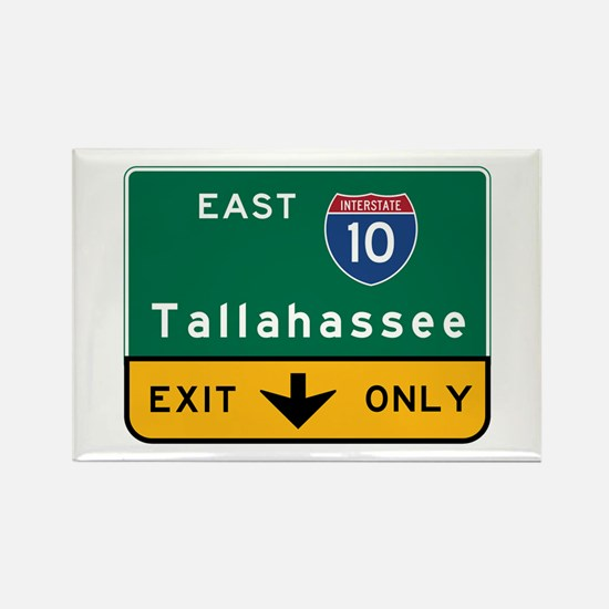 Tallahassee, FL Road Sign, USA Rectangle Magnet