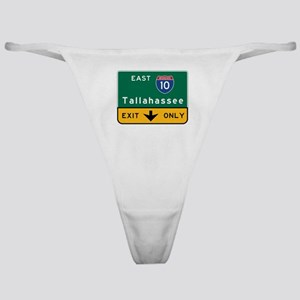 Tallahassee, FL Road Sign, USA Classic Thong