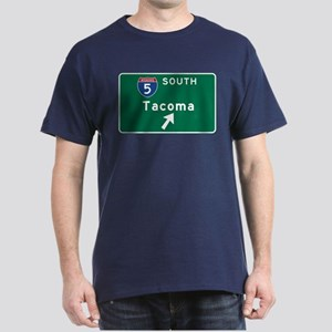 Tacoma, WA Road Sign, USA Dark T-Shirt