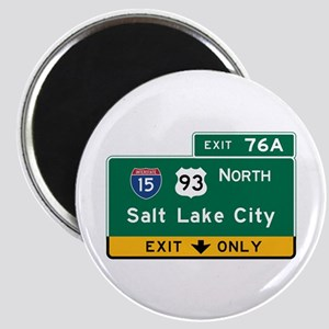 Salt Lake City, UT Road Sign, USA Magnet