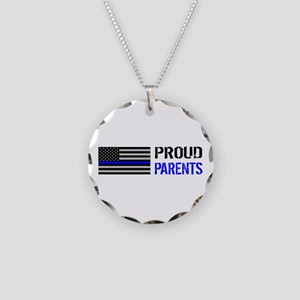 Police: Proud Parents Necklace Circle Charm