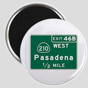 Pasadena, CA Road Sign, USA Magnet