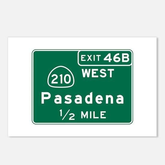 Pasadena, CA Road Sign, U Postcards (Package of 8)
