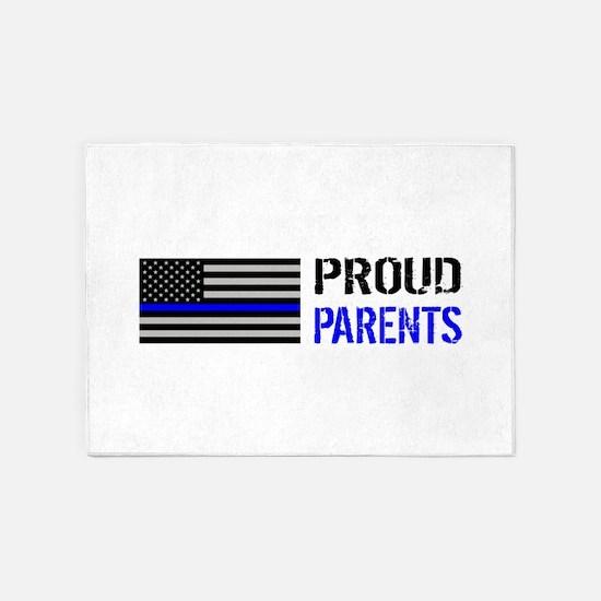 Police: Proud Parents 5'x7'Area Rug
