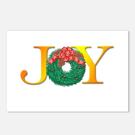 Joy Christmas Wreath Postcards (Package of 8)