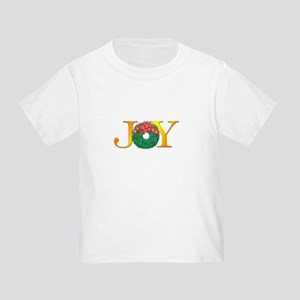 Joy Christmas Wreath Toddler T-Shirt