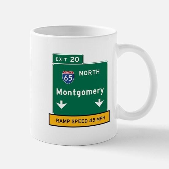 Montgomery, AL Road Sign, USA Mug
