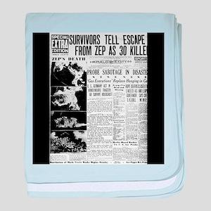 Old newspaper poster Zep Crash News V baby blanket