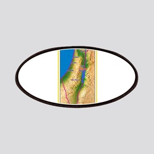 Israel Map Palestine Landscape Border Jewish Patch