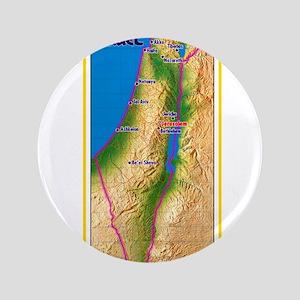 Israel Map Palestine Landscape Border Jewis Button